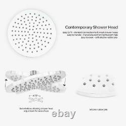 2 Dial 2 Way Round Concealed Thermostatic Mixer Valve Abs Shower Hand Held Kit
