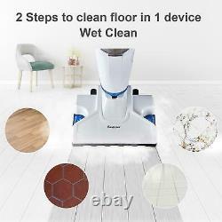 2 in 1 Vacuum and Steamer Combi Hard Floor Carpet Hot Steam Clean SALE