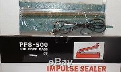 20 inch PFS-500 Alaminum Shell Bag Sealer Handheld Heat Impulse Sealing Machine
