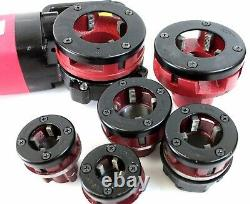 2000W Electric Pipe Threader Forward Reversible with 6 Dies Threading Machine NPT
