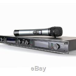 4 Channel 4 Cordless Handheld Mic UHF Wireless Microphone System Metal EW240