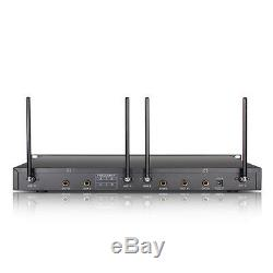 4 Metal Handheld Microphone EW240 Channel UHF Cordless Mic System