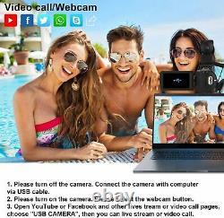 4K 48MP Video Camera Camcorder, Digital YouTube Vlogging Camera, 16X Digital Zoo