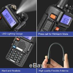 5PCS Dual-band handheld Ham BaoFeng Radio Walkie Talkie LED flashlight Antenna