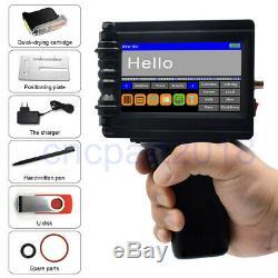 600DPI Handheld Smart Date Coder Inkjet Printer Ink Barcode machine LED Screen