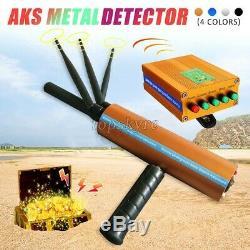 AKS Long Range Gold Metal Detector Gems Diamond Finder 3 Antennas Handheld top