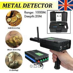 AKS Metal Detector Dual Probe Gold Hunter Treasure Digger Search 4.2KG Deep 20M