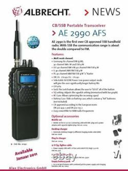 Albrecht AE2990AFS AM FM USB LSB MultiBand Handheld CB HAM Transceiver AE2990