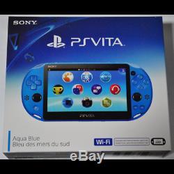 Aqua Blue PS Vita Slim Handheld Console Sony PlayStation PSV System 1GB NEW