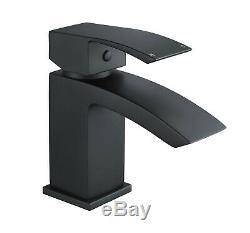 Arke Bathroom Black Matt Sink Basin Mono Mixer Bath Filler Shower Brass Tap
