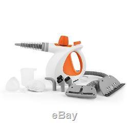 Beldray BEL0701 10 in 1 Handheld Steam Cleaner, 1000 W, Orange/W