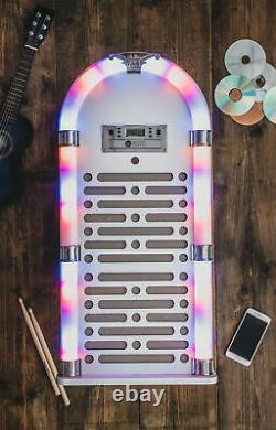 Bluetooth Jukebox Tabletop CD Player Fm Radio Hifi Stereo Machine W Remote New