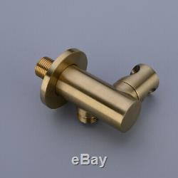 Brass Bathroom Bathtub Mixer Tap Bath Filler Spout Handheld Shower Brushed Gold