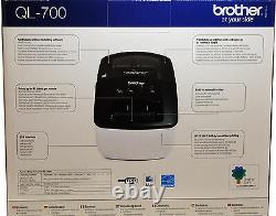 Brother Thermal Label Printer QL600B Print Postal Address Labels Labeller