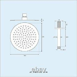 Calla Ceiling Round Concealed Thermostatic Mixer Valve Hand Held Shower Head Set