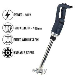 Chef-hub 500w Handheld Commercial Stick Blender With 400mm Shaft Variable Speed