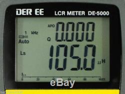 DER EE High Accuracy Handheld LCR Meter DE-5000 bundle TL-21 /TL-22 /TL-23