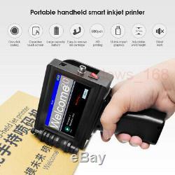 DIY 600DPI Handheld Tintenstrahldrucker Tinte Logo Code Datum Wörter QR Barcode