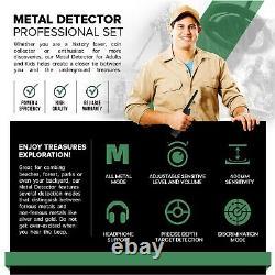 Deep 400mm Sensitive Metal Detector Searching Gold Digger Treasure Hunter LCD