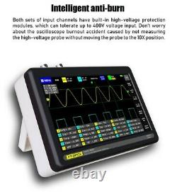 FNIRSI 1013D Pocket 7 inch 2 Channels Digital Oscilloscope 100MHz Bandwidth 1GS