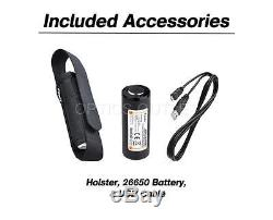 Fenix PD40R 3000 Lumen USB Rechargeable LED Tactical Flashlight with 26650 Battery
