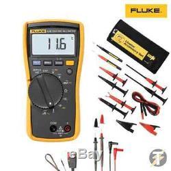 Fluke 113 114 115 116 117 True RMS Digital HVAC Multimeter with Test Kit Option