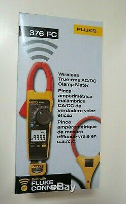 Fluke 376 FC Wireless True RMS 1000A AC/DC Clamp Meter i2500-18 iFlex Flex Cable