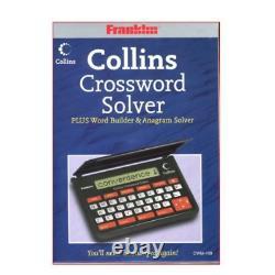 Franklin Cwm109 Collins Crossword Solver Puzzles Pocket Calculator Black/red