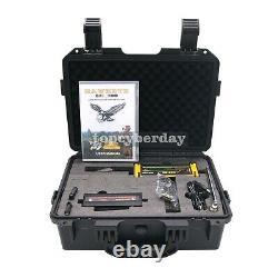 GR-200 Long Range Metal Detector 3D LED Display+2 Antennas+Case for Gold Silver