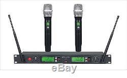 GTD 2 x 100 Ch UHF Handheld wireless Microphone mic System B-22H