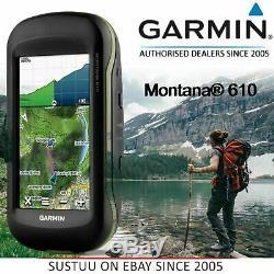 Garmin Montana 610 Handheld GPS Sat NavGLONASS1 year BirdsEye Subscription4