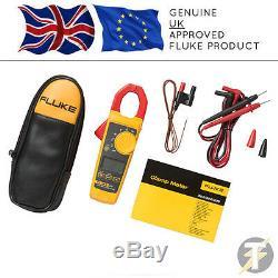 Genuine Fluke 325 True-RMS ACDC Clamp Meter, Temperature Probe, Leads & C23 Case