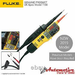 Genuine Fluke T150 Audible Voltage & Continuity Electrical LCD Two Pole Tester