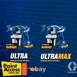 Graco Ultra / UltraMax Cordless Airless Handheld Paint Sprayer DeWalt Battery
