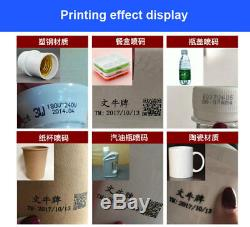 Handheld Inkjet Printer 600DPI Ink Date Words QR Code Barcode Logo Machine SZ #