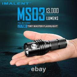 Imalent MS03 Type-C Rechargeable 21700 Battery Flashlight 13000 lumens Torch UK