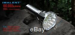 Imalent MS18 100,000 Lumens- Brightest LED camping search light rechargeable