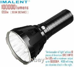 Imalent MS18 Rechargeable Flashlight 100,000 Lumens LED Light Torch & Charger