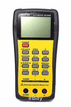 LCR QZ Meter DE-5000 USB 100/120Hz/1/10/100KHz + TL-21 TL-22 Test Probe DER EE