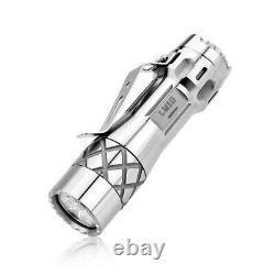 LUMINTOP LM10 10th Anniversary Titanium Flashlight POLISHED OR SANDBLASTED USA