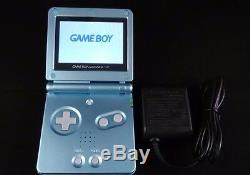 MINT NEW Nintendo Game Boy Advance SP Pearl Blue Handheld System AGS101 BRIGHTER