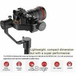 MOZA Air New Version with Dual Handle Grip DSLR Gimbal Stabilizer 7.72 Lb Payload