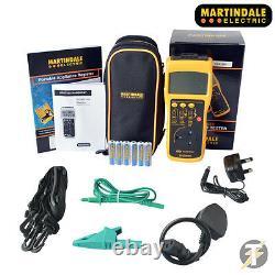 Martindale HandyPAT 500/2 Handheld PAT Tester + PASS & FAIL Labels + Calibrated