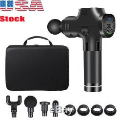 Massage Gun Percussion Massager Body Vibration Relaxing Therapy Deep Tissue US