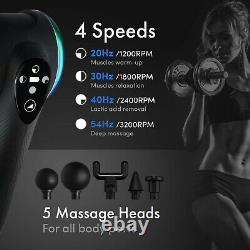 Massage Gun Percussive Therapy Device for Athletes USA ReAthlete Deep4s