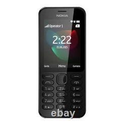 Microsoft 2.4 Inch Nokia 222 Sim Free Smartphone Mobile Black A00026435