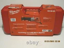 Milwaukee 6519-31 Sawzall, Reciprocating SAW 12 AMP WithCASE FREE FAST SHIP-NISB