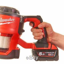 Milwaukee M18 Compact Hand Vac M18cv-0 4933459204