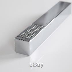 Modern Bathroom Thermostatic Shower Mixer Valve & Waterfall Fixed Head Kit