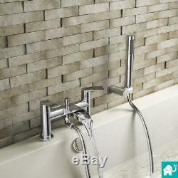 Modern Chrome Waterfall Bath Handheld Shower Mixer Designer Bathroom Taps TB3153